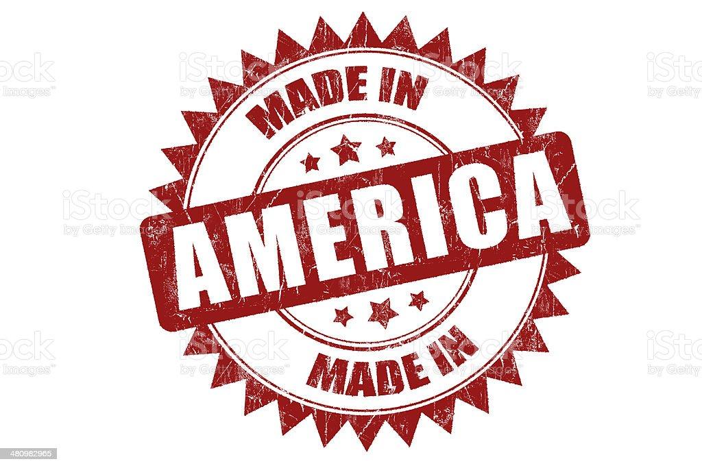 Rubber stamp 'America' stock photo