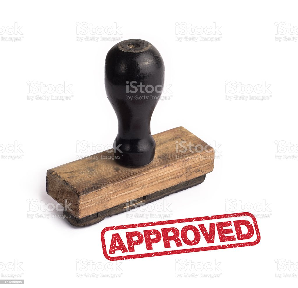 rubber stamp APPROVED stock photo
