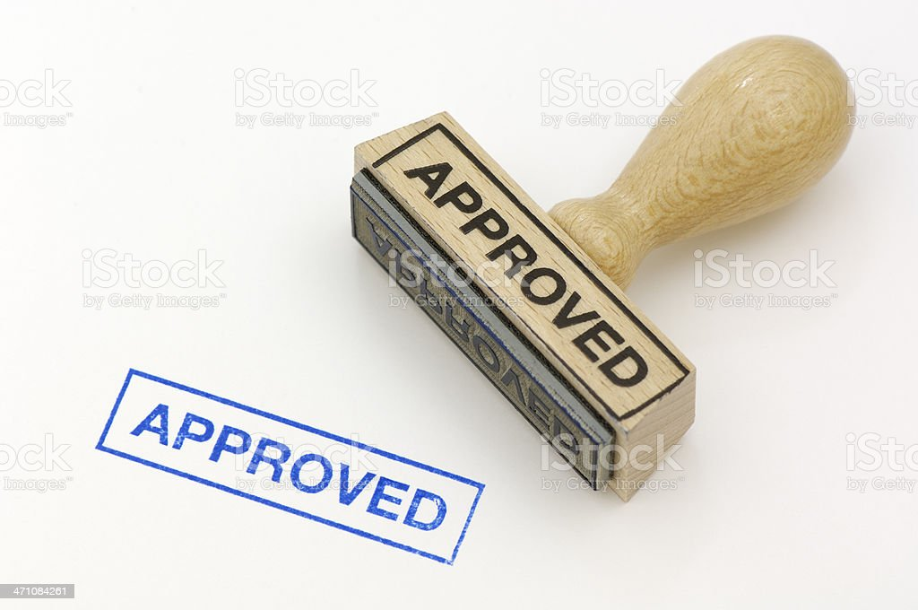 Rubber stamp approved royalty-free stock photo