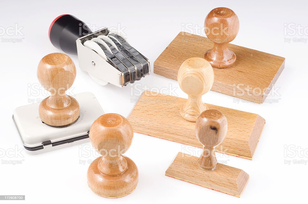 Rubber Stamp Family royalty-free stock photo