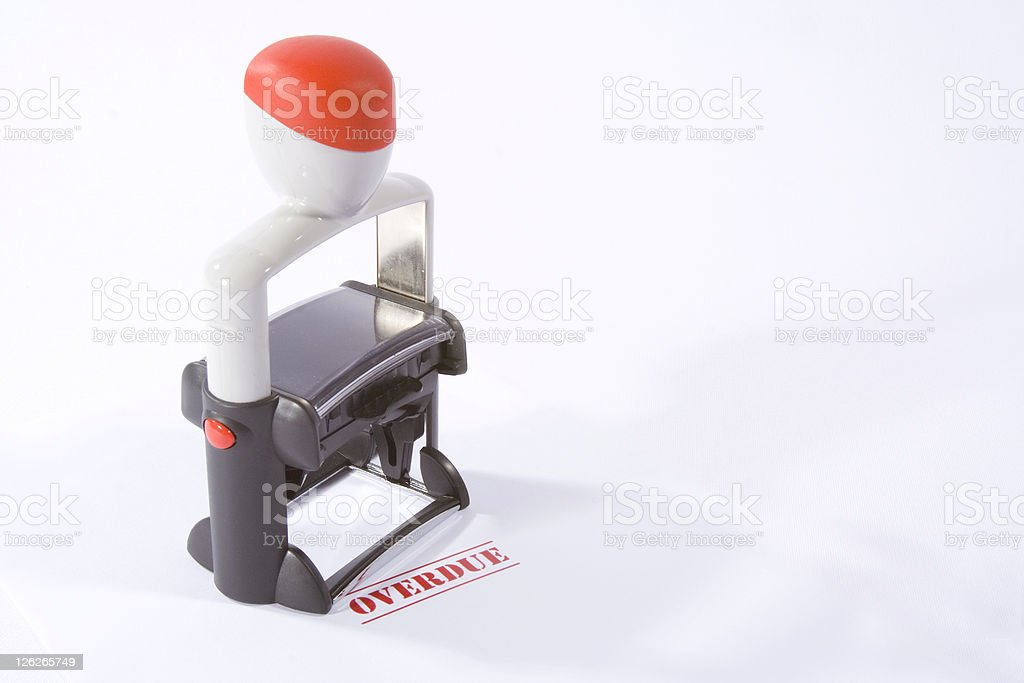Rubber Stamp OVERDUE royalty-free stock photo