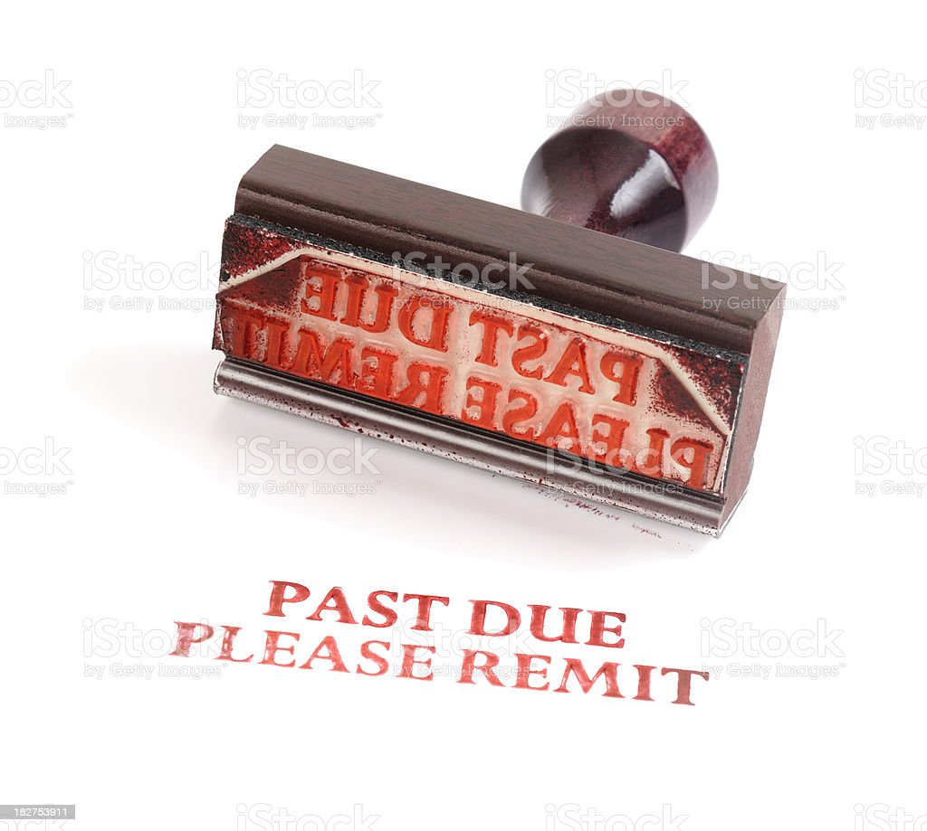 Rubber stamp Past Due royalty-free stock photo