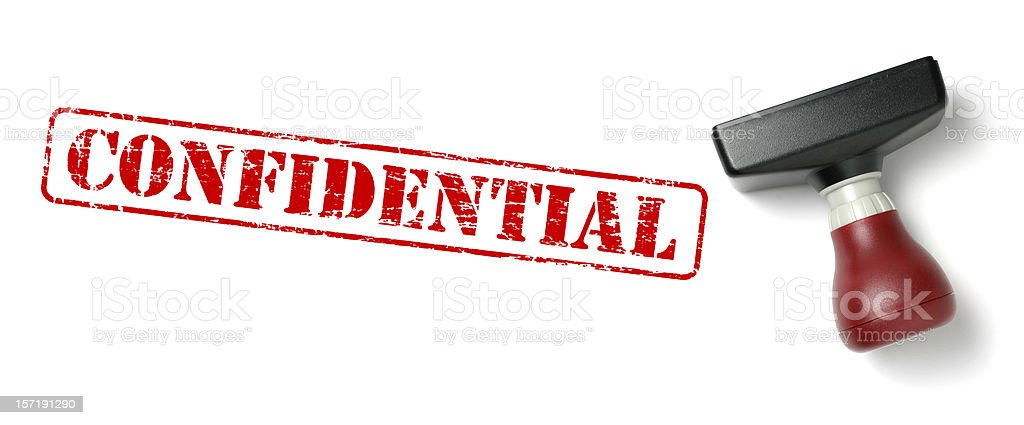 CONFIDENTIAL Rubber Stamp stock photo