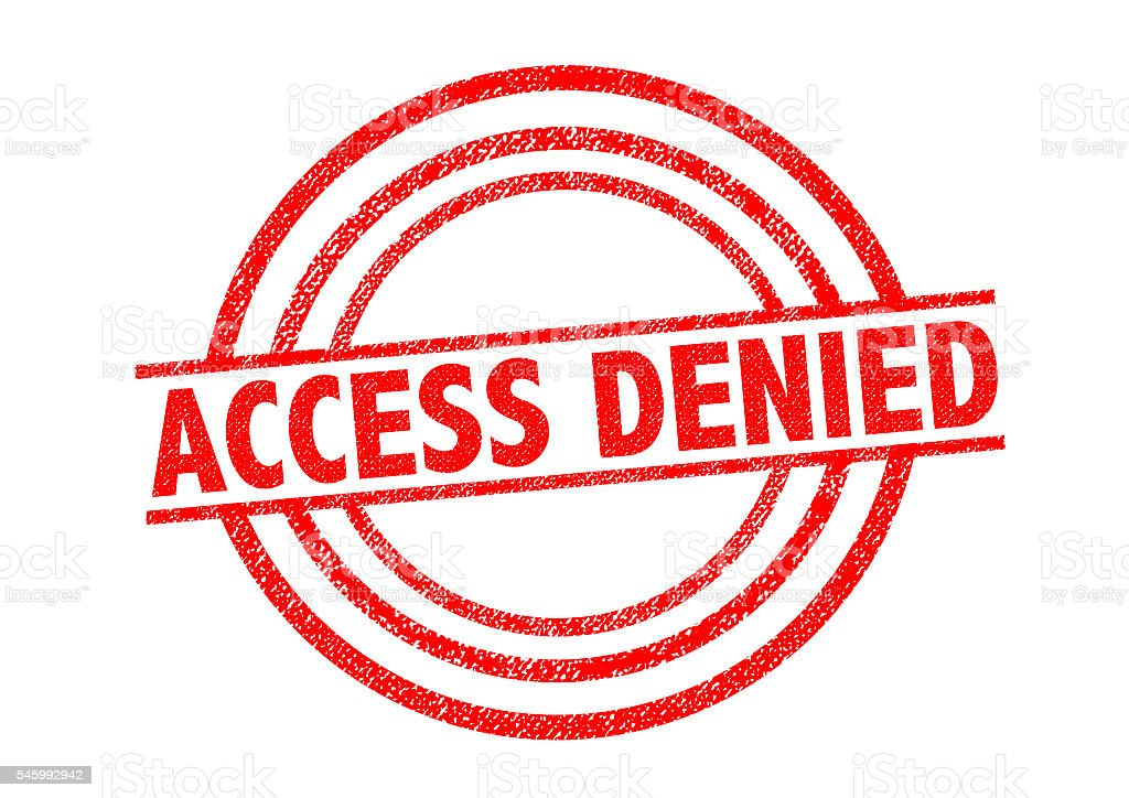 ACCESS DENIED Rubber Stamp stock photo