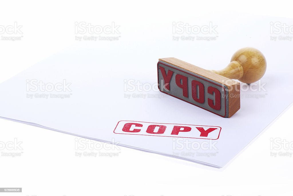 COPY rubber stamp royalty-free stock photo