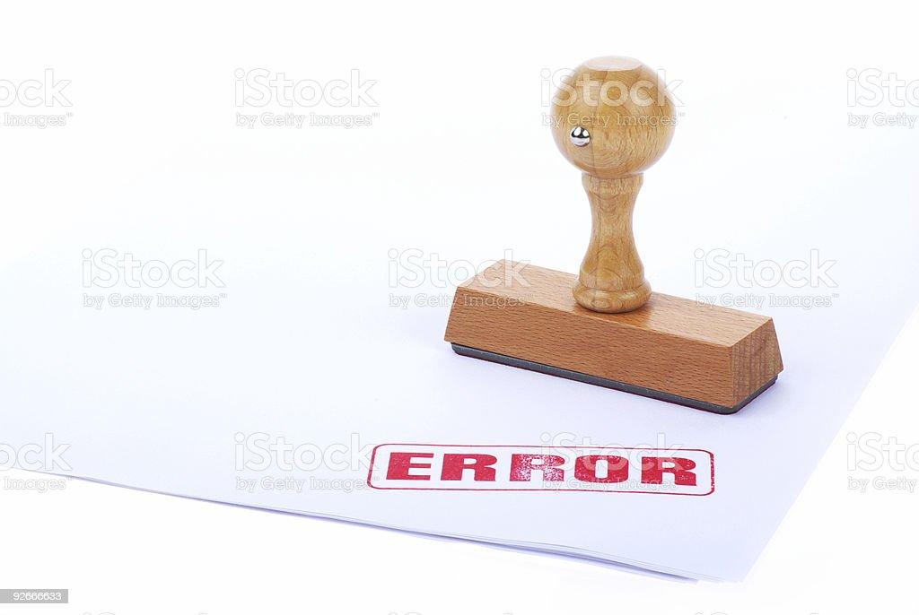 ERROR rubber stamp stock photo