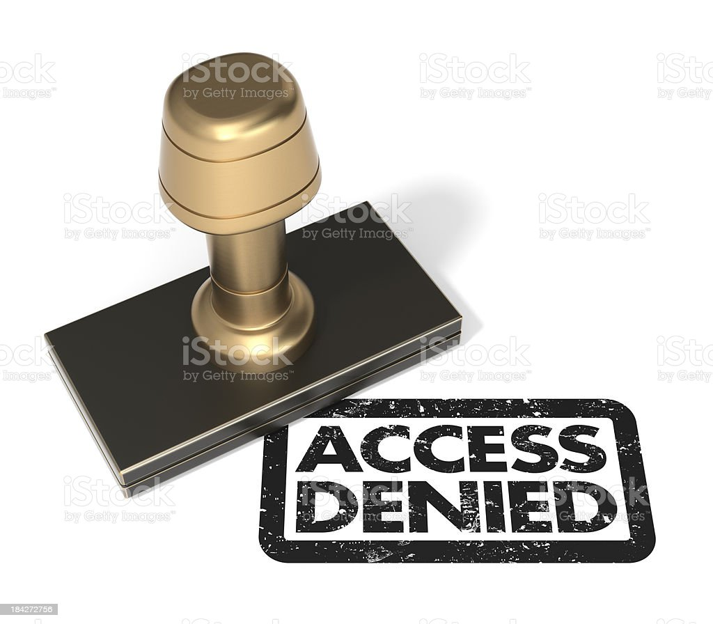 "Rubber stamp ""Access Denied"" royalty-free stock photo"