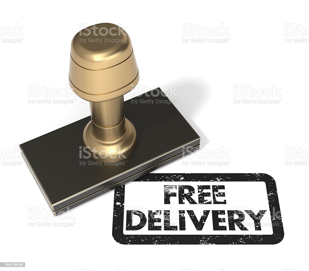 """Rubber stamp """"Free Delivery"""" royalty-free stock photo"""