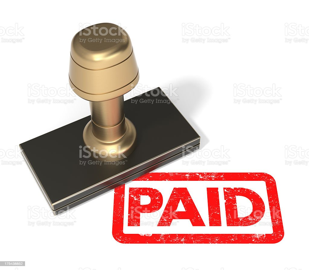 """Rubber stamp """"PAID"""" stock photo"""