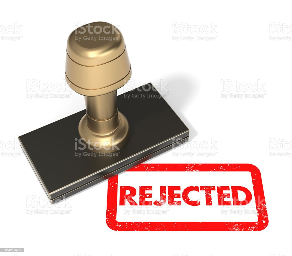 "Rubber stamp ""Rejected"" royalty-free stock photo"