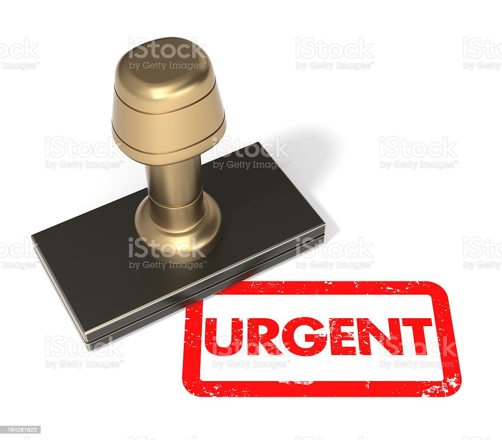 """Rubber stamp """"Urgent"""" royalty-free stock photo"""