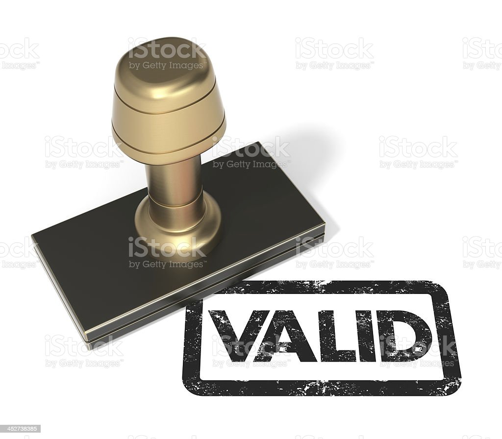 "Rubber stamp ""VALID"" stock photo"