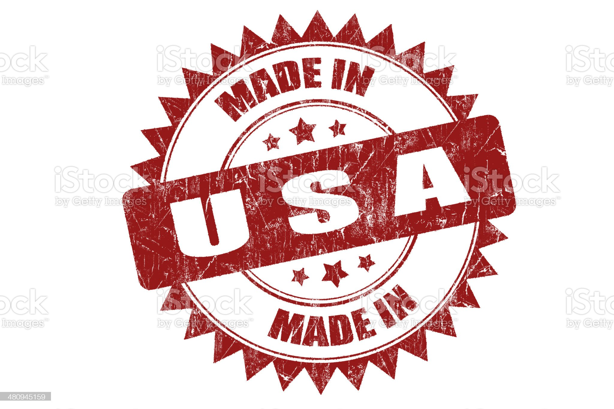 Rubber stamp 'USA' royalty-free stock photo