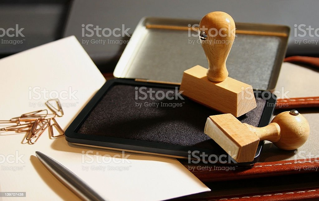 Rubber Stamps royalty-free stock photo