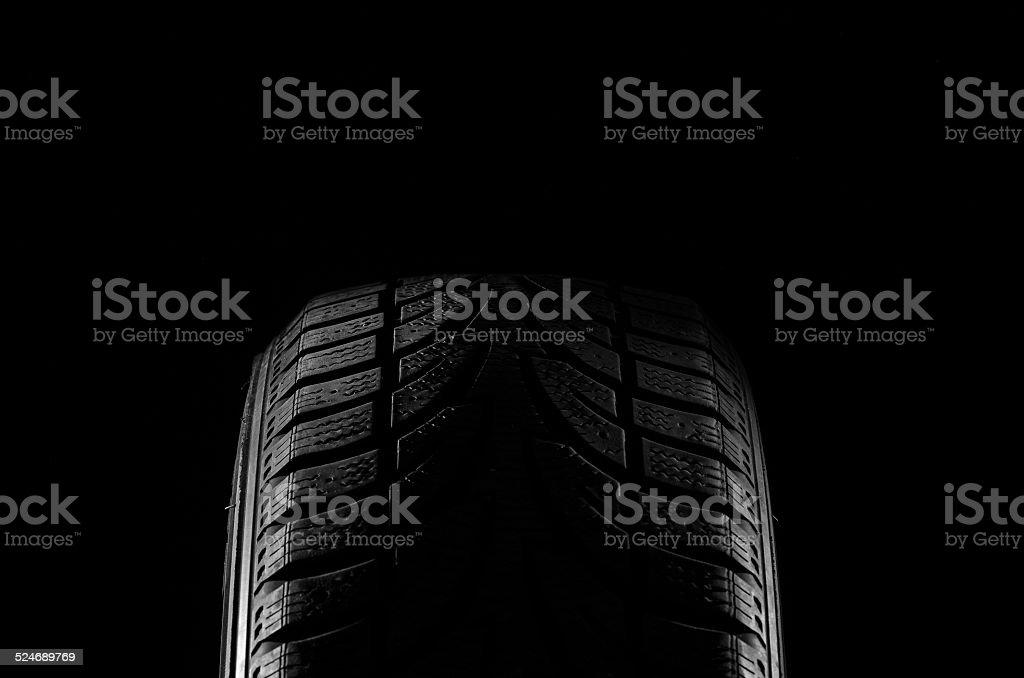 Rubber tire stock photo