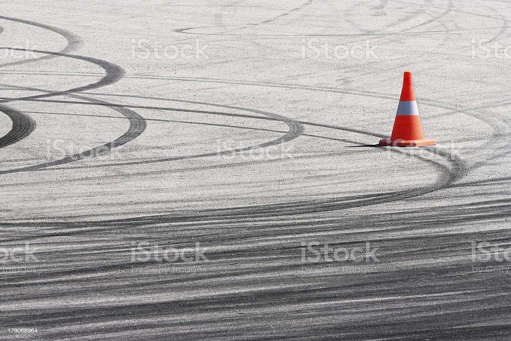 Rubber traces stock photo