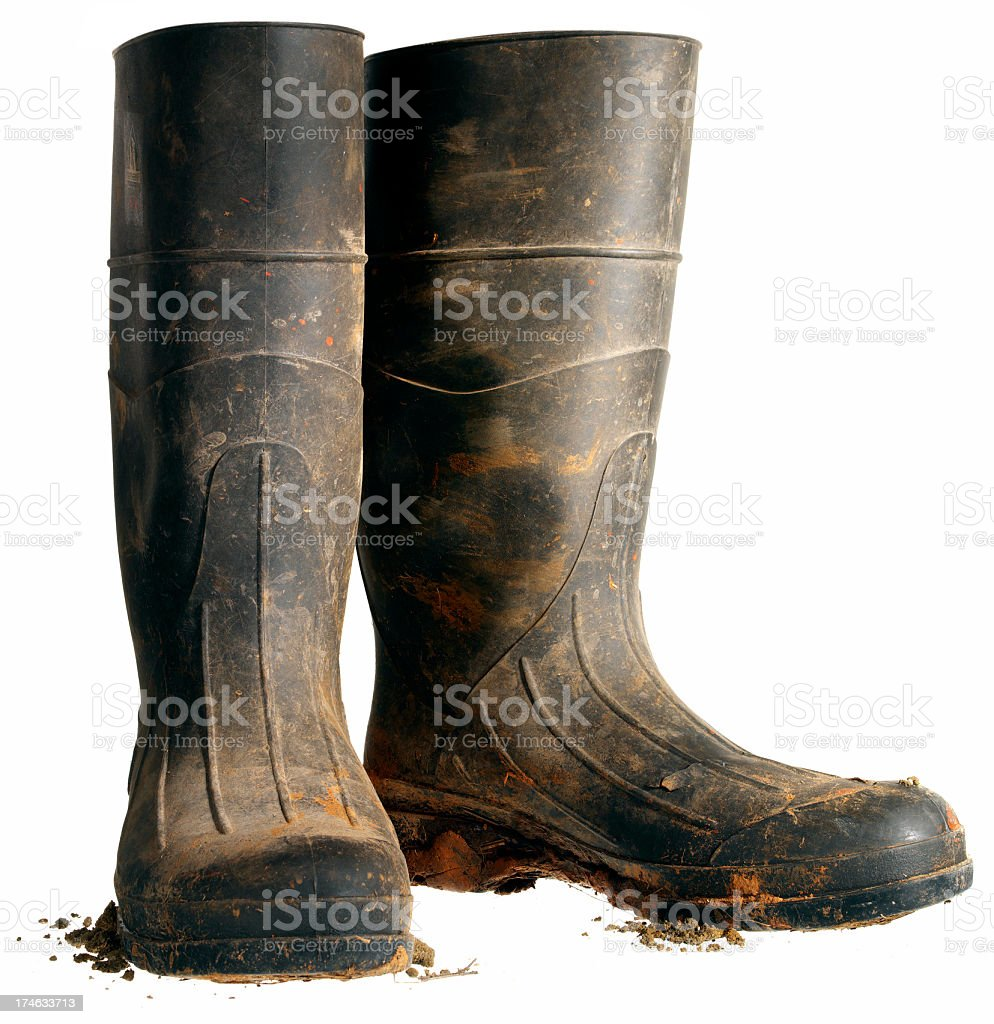 Rubber Work Boot, Isolated stock photo