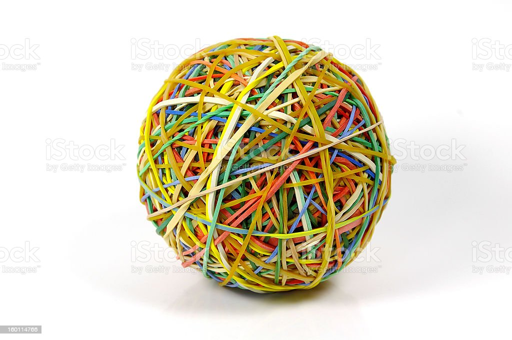 Rubberband Ball royalty-free stock photo