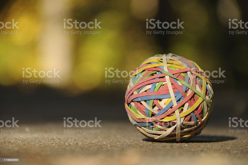 Rubberband Ball stock photo