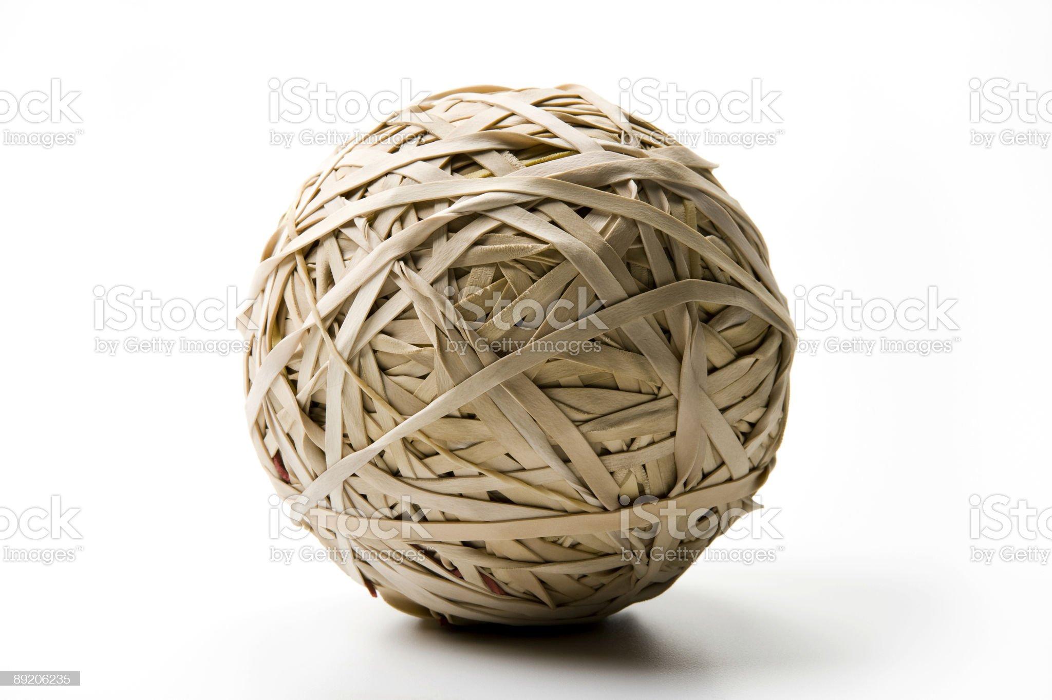 Rubberband Ball royalty-free stock photo