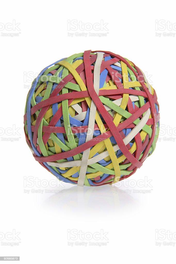 Rubberband Ball (Isolated) royalty-free stock photo