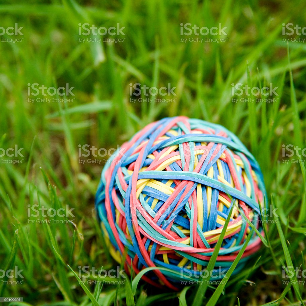 rubberbands ball royalty-free stock photo