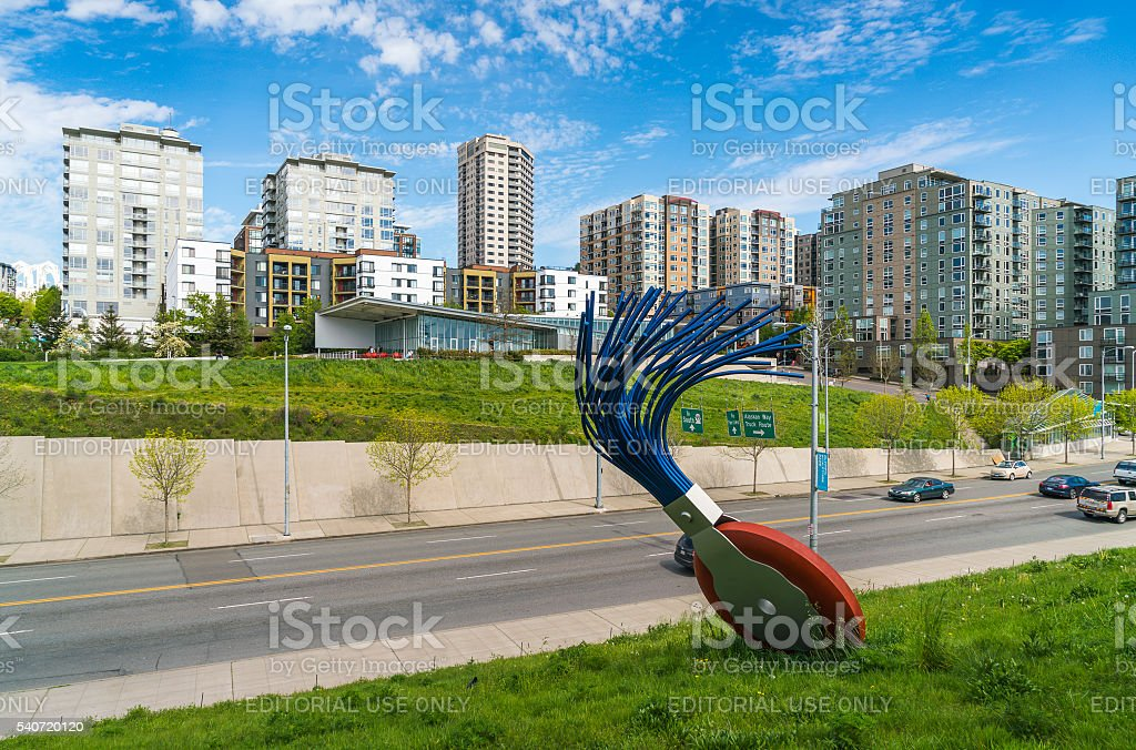 rubber,seattle waetr front on sunndy day,Seattle,Washington,usa. stock photo