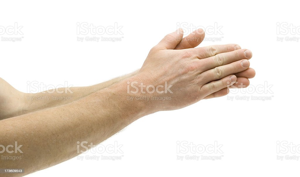Rubbing Hands Together royalty-free stock photo