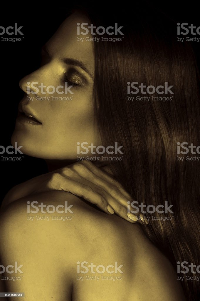 rubbing shoulder royalty-free stock photo