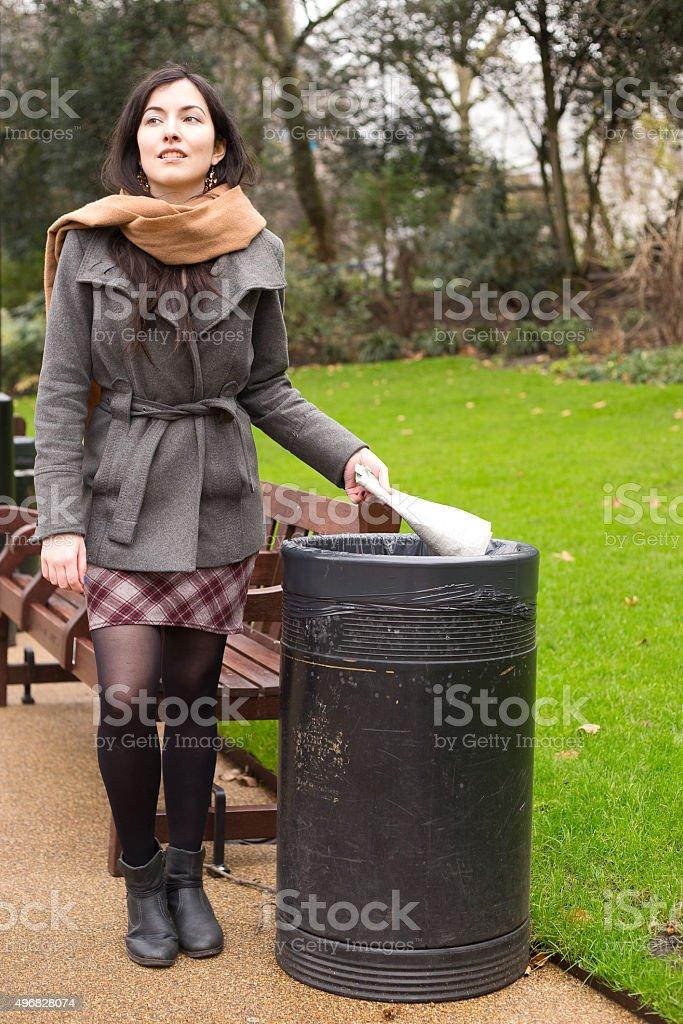rubbish bin royalty-free stock photo