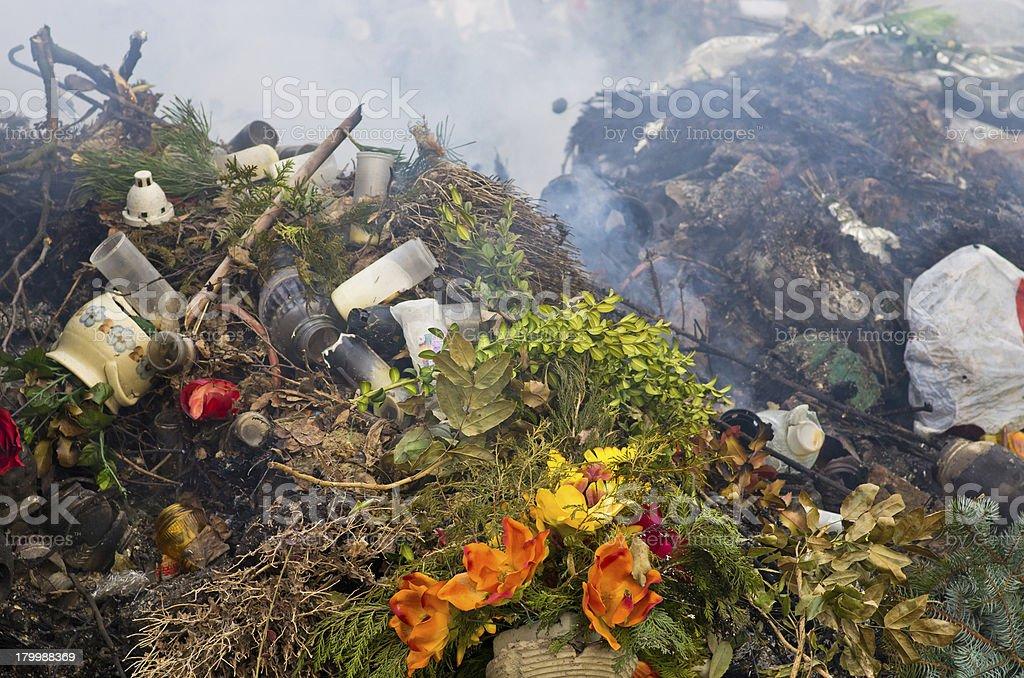 Rubbish burning royalty-free stock photo