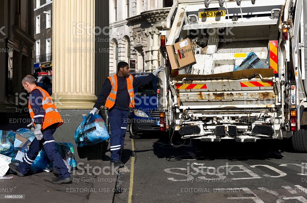 Rubbish clearance in London royalty-free stock photo