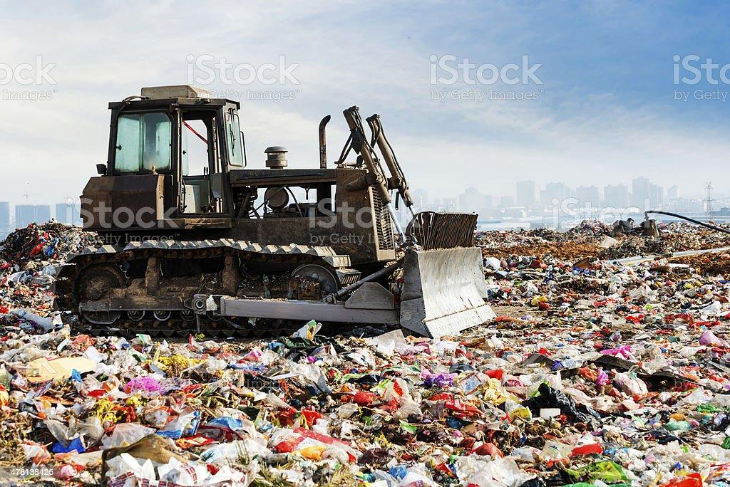 Rubbish dump stock photo