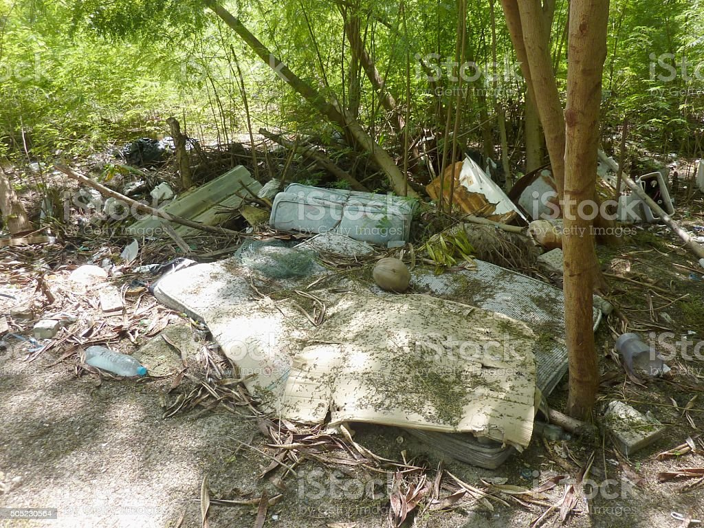 Rubbish in PhiPhi island, Thailand stock photo