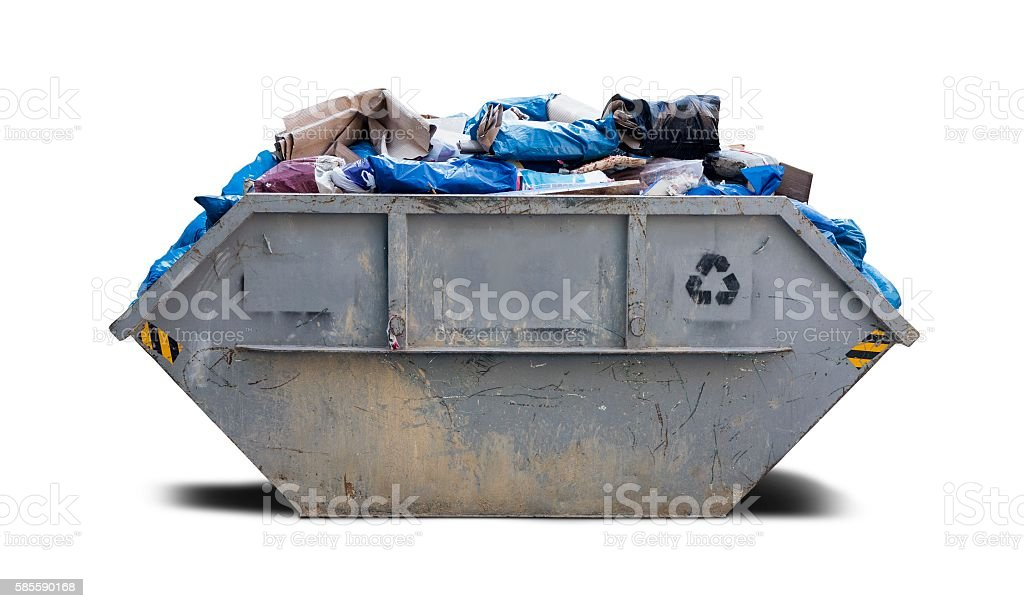 Rubbish Skip - builders bin stock photo
