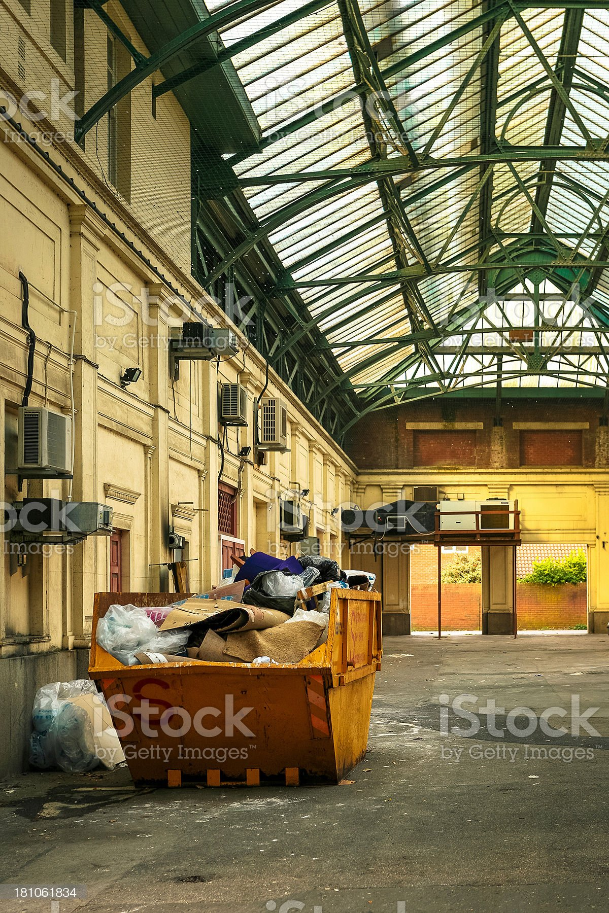 Rubbish skip in an industrial area royalty-free stock photo
