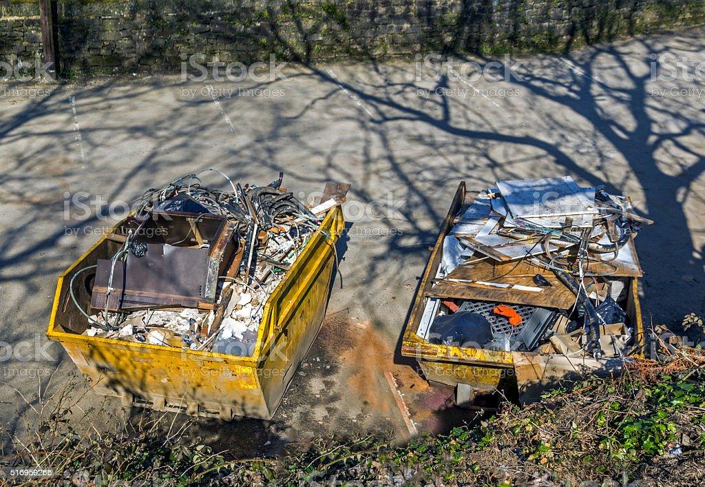 Rubbish Skips stock photo