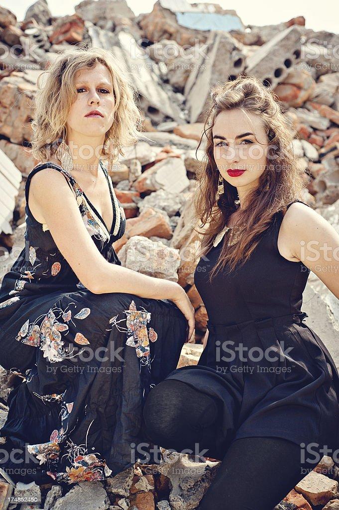 Rubble & Beauty royalty-free stock photo