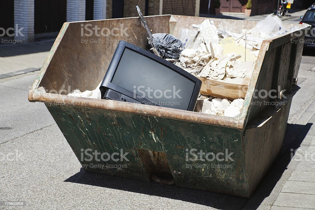 rubble container royalty-free stock photo