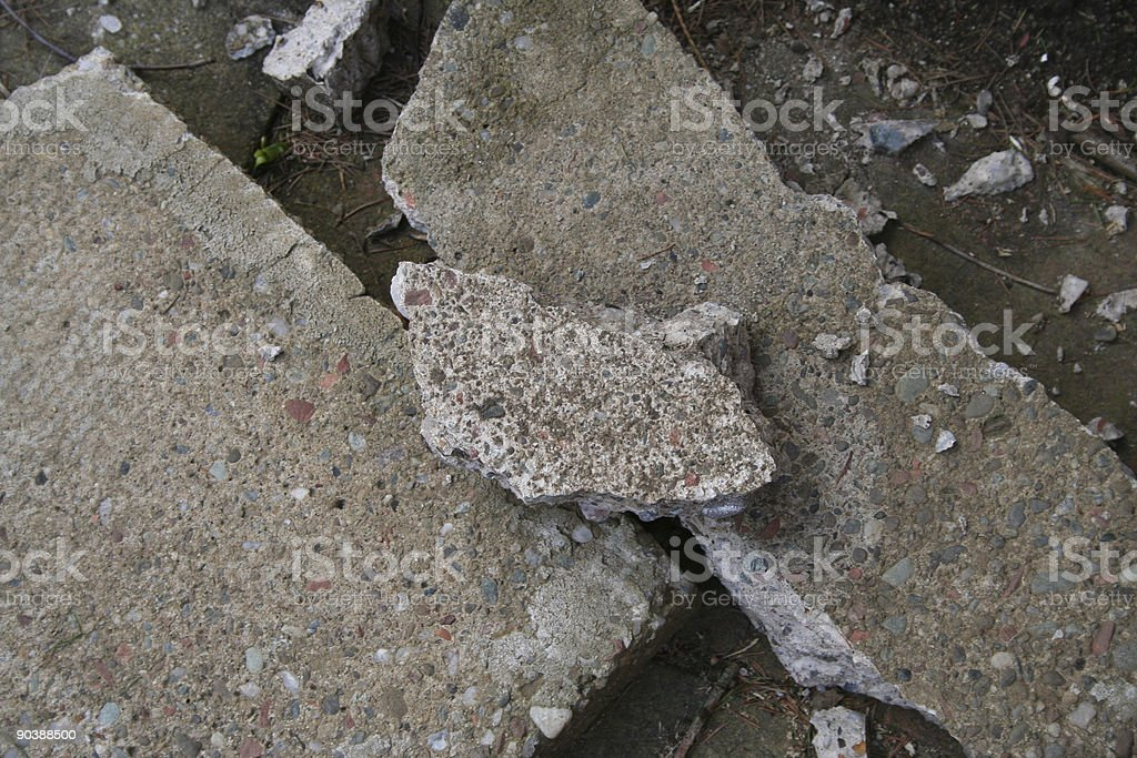 Rubble stock photo