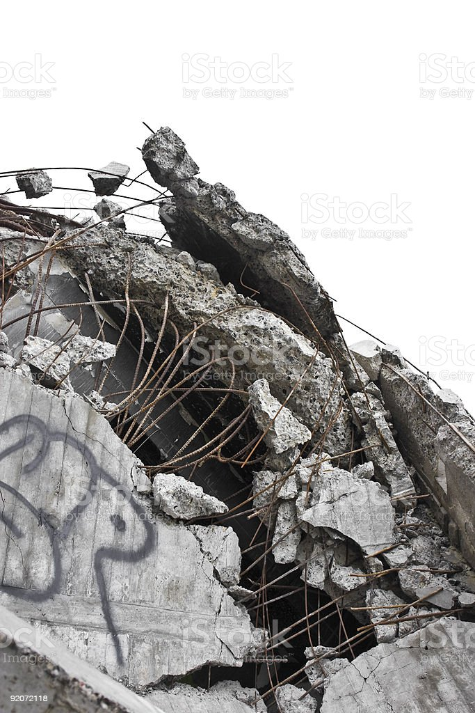 Rubble royalty-free stock photo
