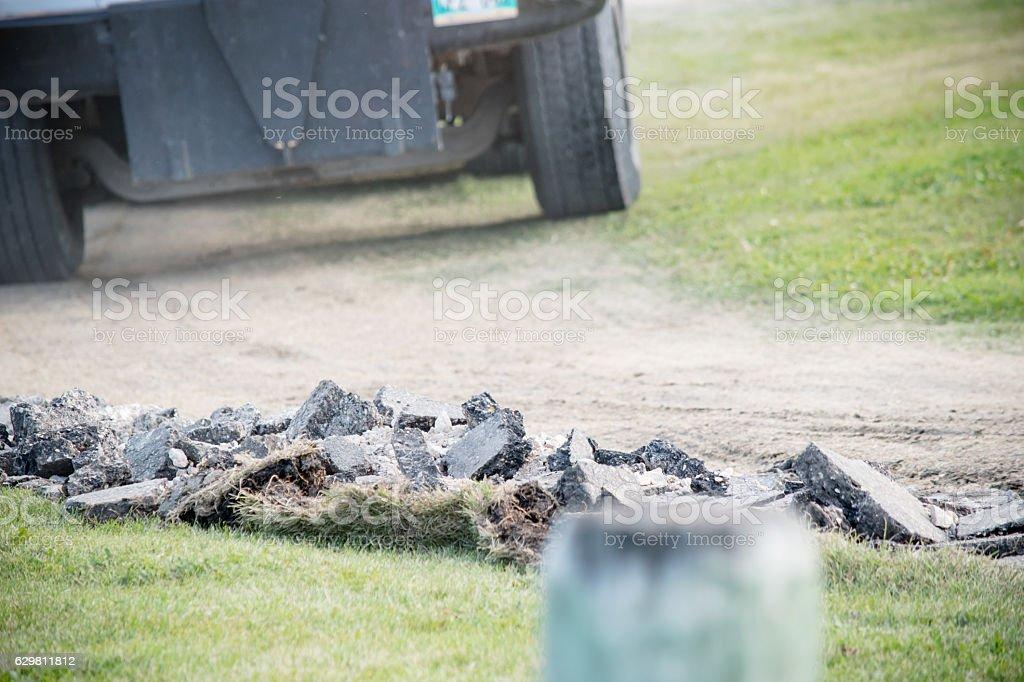 rubble truck stock photo
