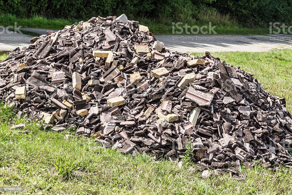 Rubble unloaded stock photo