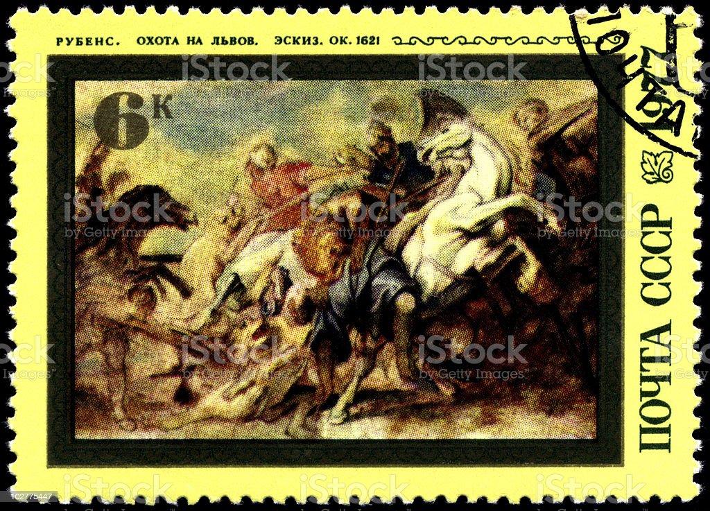 Rubens Lion Hunt royalty-free stock photo