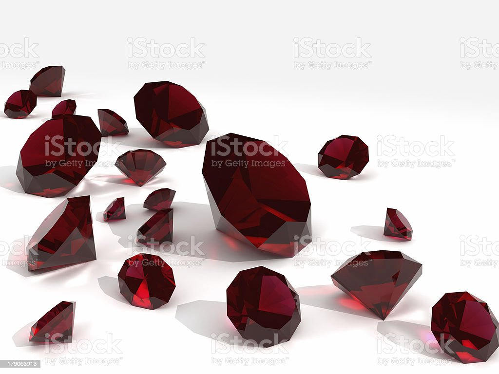 rubies stock photo