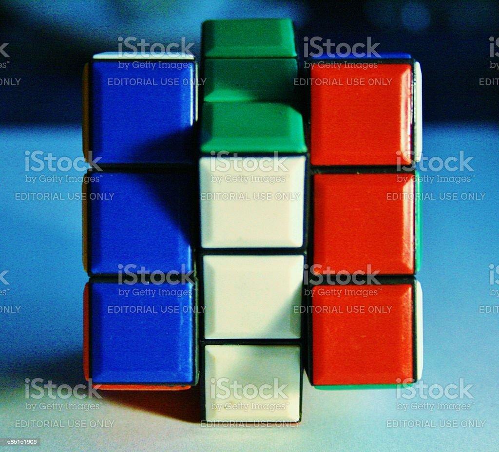 Rubik's cube forming france flag stock photo