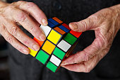 Rubiks Cube, problem solving, aging, frustration, confusion, mental health, puzzle,
