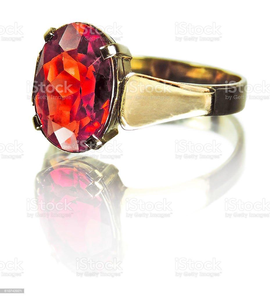Rubine ring stock photo