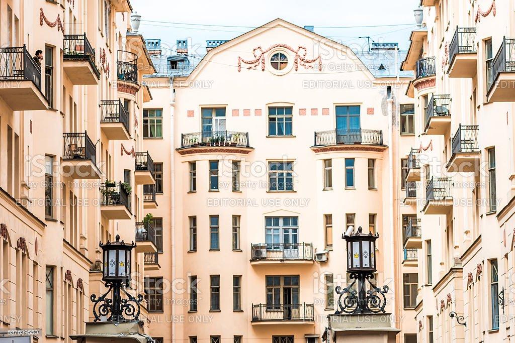Rubinsteina street in St.Petersburg stock photo