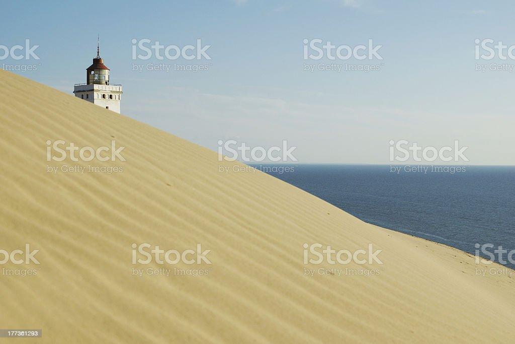 Rubjerg Knude Fyr (Lighthouse), Northern Jutland, Denmark stock photo